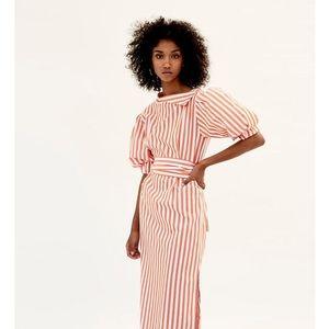 ZARA orange striped dress